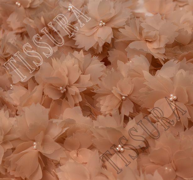 Floral Applique Embroidered Tulle #4