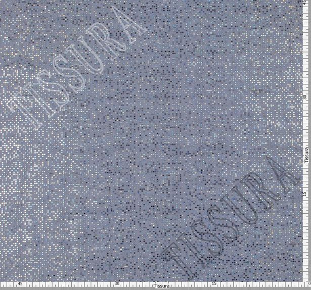 Foil Appliqued Silk Organza #2