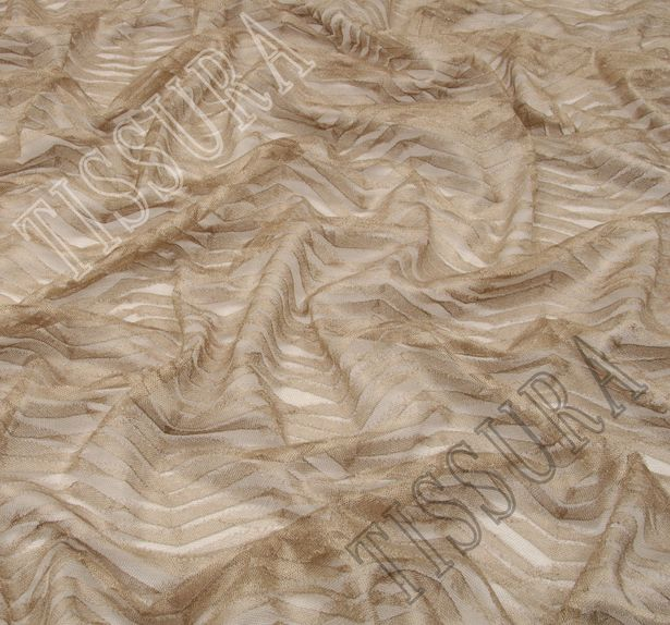 Zigzag Embroidered Tulle #4