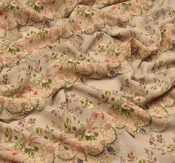 Swarovski Embroidered Silk Chiffon #1