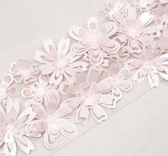 Floral Appliqued Tulle #1