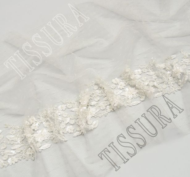 Embroidered Tulle Trim #4
