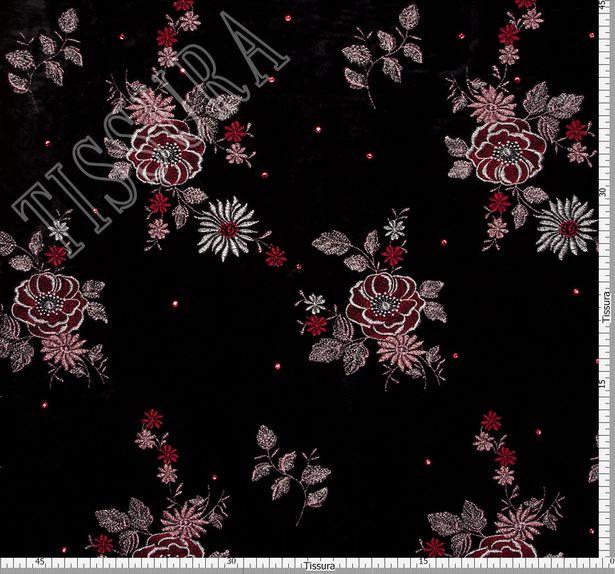 Embroidered Velvet with Swarovski Crystals #3