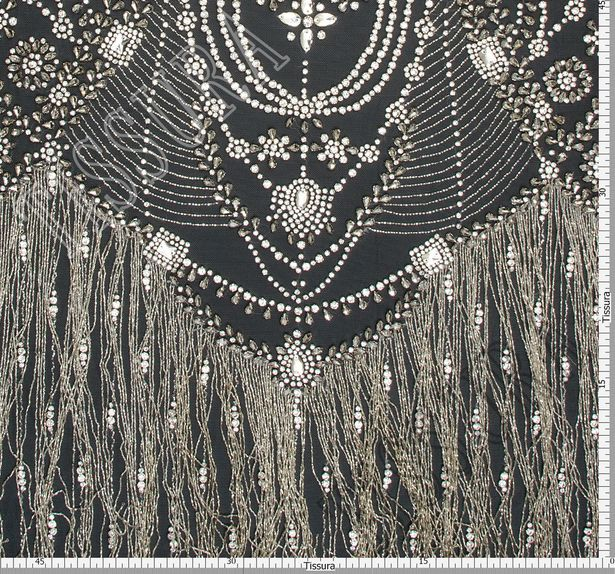 Embroidered Fringed Tulle #2