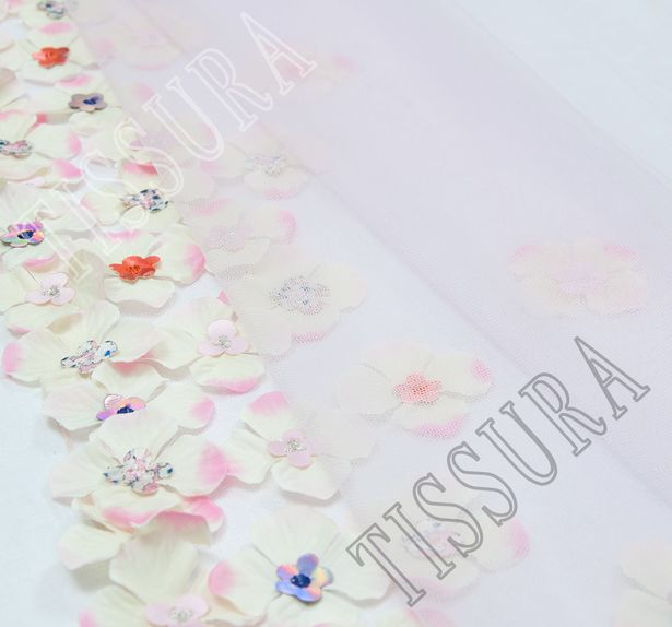 Floral Applique Tulle #1