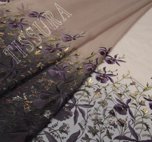 Embroidered Ombre Organza #1
