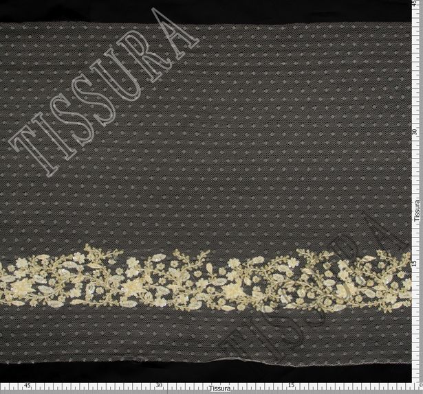 Embroidered Tulle Trim #2
