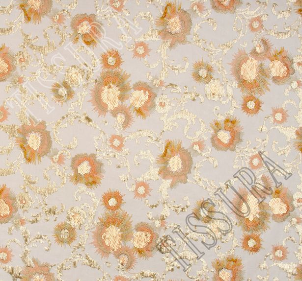 Embroidered Sequined Tulle #3
