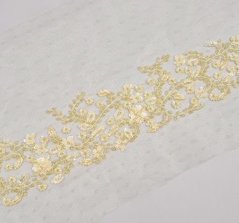 Embroidered Tulle Trim #1