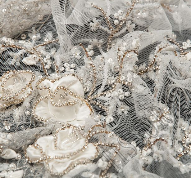 Sequined Embroidered Tulle #4