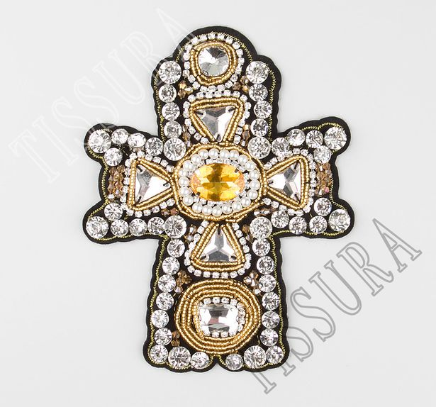 Rhinestone Embroidered Patch #1
