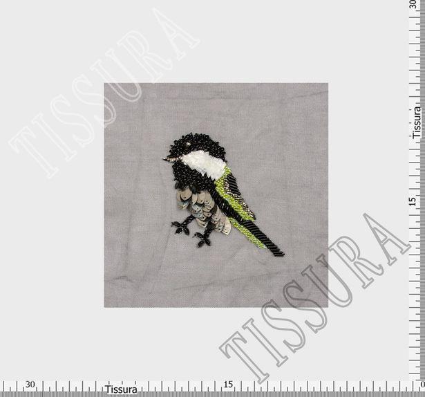Raffia & Sequin Patch #2