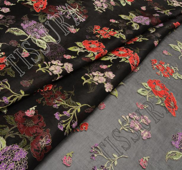 Embroidered Cotton Organdy #1