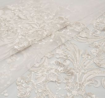 Embroidered Organza Applique Tulle