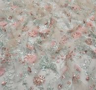 Embroidered Sequined Tulle #4