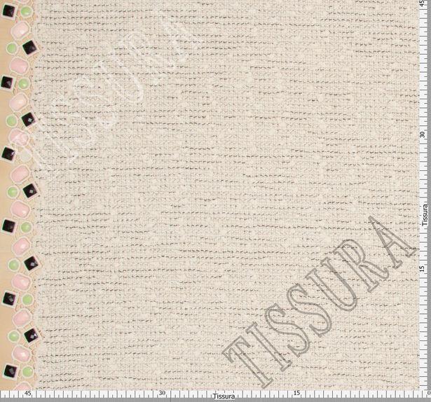 Tweed Boucle with Rhinestone Border #2