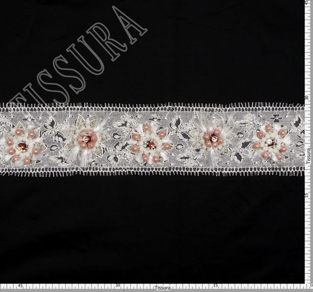 Beaded Chantilly Lace Trim #2