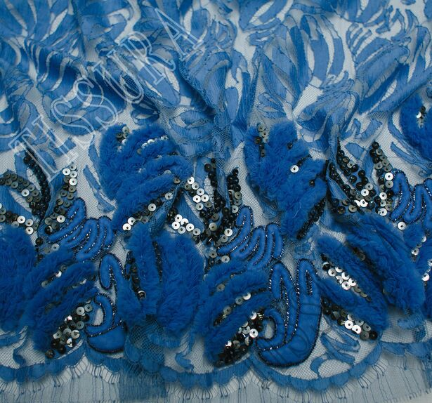 Tulle Applique Sequined Lace #1