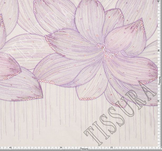 Embroidered Tulle with Swarovski Crystals #2
