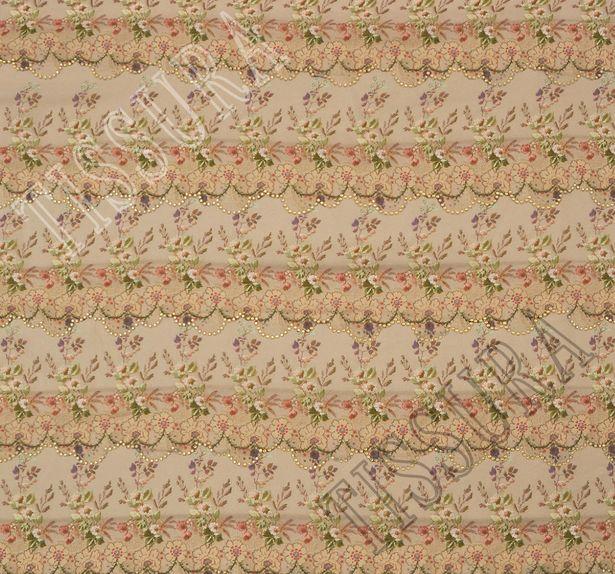 Swarovski Embroidered Silk Chiffon #3