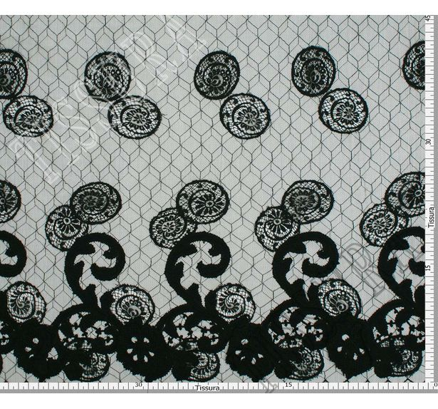 Spiral Embroidered Chantilly Lace #2